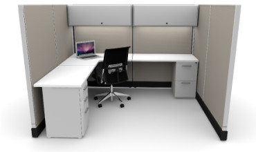 Budget 6X8 Cubicles With Files / Bins