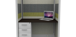 Tiled Call Center Cubicles 67″ With File