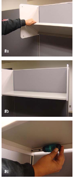 Cubicle Shelf Pan Installation
