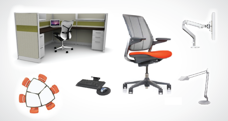 The ergonomic office for Office design ergonomics