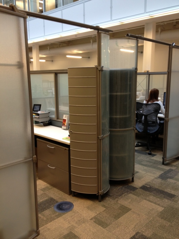 Used herman miller my studio cubicles for 8x8 office design