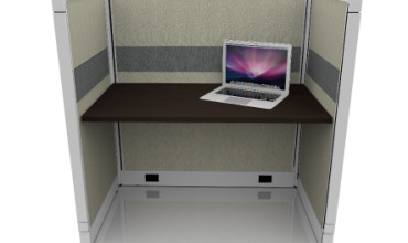 Tiled Call Center Cubicles 53″