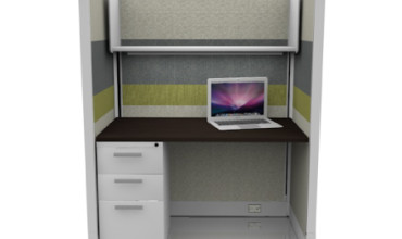 Tiled Call Center Cubicles 67″ File / Shelf