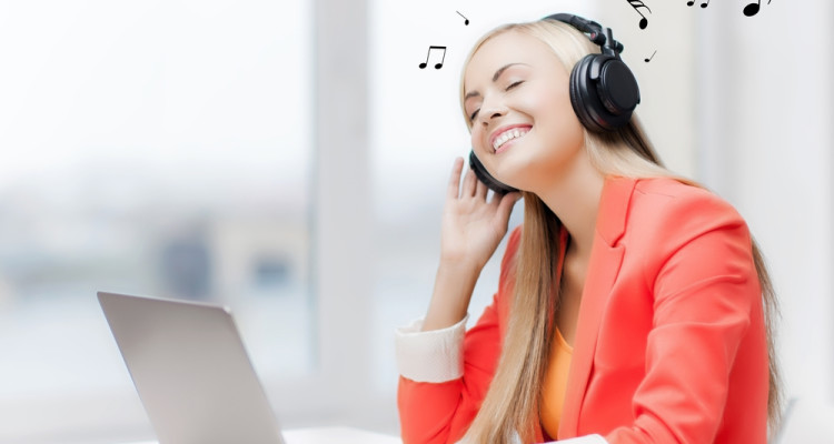 music in office cubicle