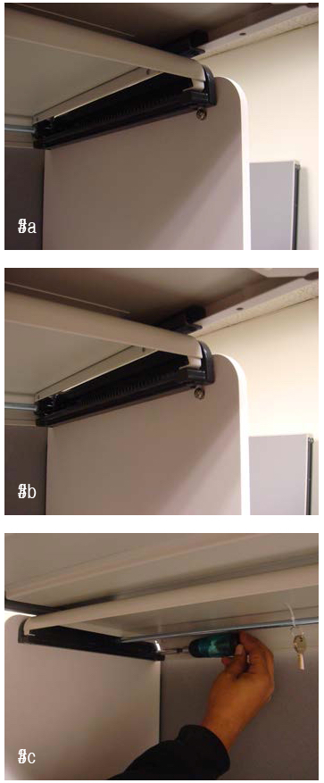 Cubicle Flipper Door Installation